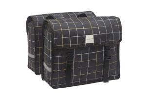 New Looxs double pannier Fiori30 litres black