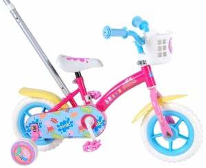 Peppa Pig duwfiets 10 Inch 18 cm Girls Fixed Gear Pink