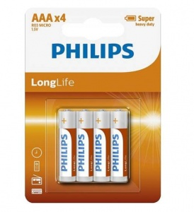 Philips aAA/LR3 longlife batteries 1.5 Volts per 4 pieces