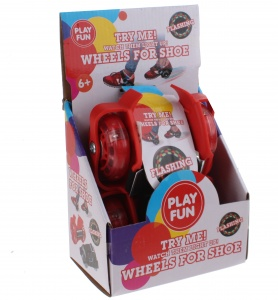 Playfun heel wheels with lights junior red 2 pieces