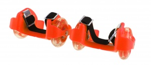 Playfun heel wheels with light junior orange 2 pieces