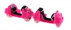 Playfun heel wheels with light junior pink 2 pieces