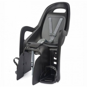 Polisport bicycle seat behind Groovy maxi carrier attachment black/grey