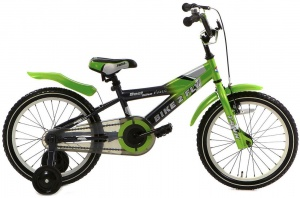 Popal Bike 2 FLY 16 Inch Boys Coaster Brake Green/Grey