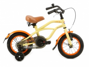 Popal Black Fighter 12 Inch Boys Coaster Brake Cream