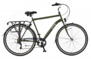 Popal City 6 Speed 28 Inch Men 6SP Rim Brakes Army Green