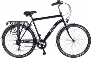Popal City 6 Speed 28 Inch Heren 6V V-Brake Zwart