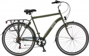 Popal City 6 Speed 28 Inch Heren 6V V-Brake Legergroen