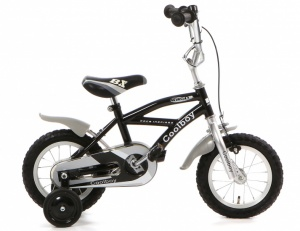 Popal Coolboy 12 Inch Boys Coaster Brake Black/Silver