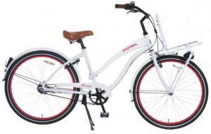 Popal Cruise 26 Inch Woman 3SP Rim Brakes White