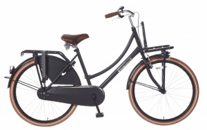 Popal Daily Dutch Basic 26 Inch Dames Terugtraprem Matzwart