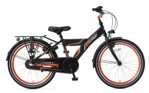 Popal Funjet N3 22 Inch 34 cm Boys 3SP Coaster Brake Black/Orange