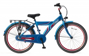 Popal Funjet N3 24 Inch 40 cm Boys 3SP Coaster Brake Blue/Red