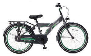 Popal Funjet X 22 Inch Boys Coaster Brake Green/Grey