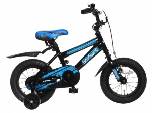 Popal Max 12 Inch Boys Coaster Brake Black/Blue