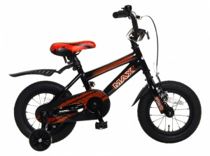 Popal Max 12 Inch Boys Coaster Brake Black/Red