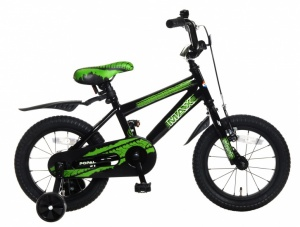 Popal Max 14 Inch Boys Coaster Brake Black/Green