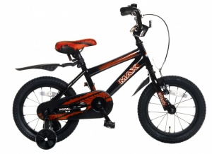 Popal Max 14 Inch Boys Coaster Brake Black/Red