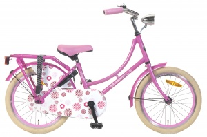 Popal omafiets 18 Inch Girls Coaster Brake Pink