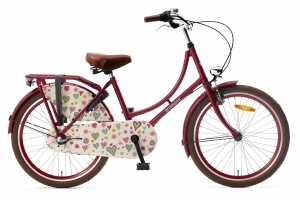 Popal Omafiets 22 Inch Girls 3SP Coaster Brake Red