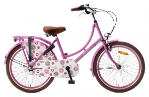 Popal Omafiets 22 Inch Girls 3SP Coaster Brake Pink