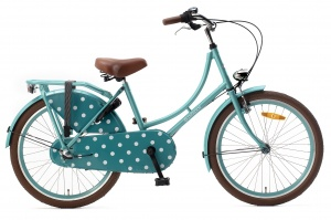 Popal Omafiets 22 Inch Girls 3SP Coaster Brake Turquoise