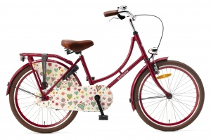 Popal Omafiets 22 Inch Girls Coaster Brake Red
