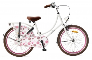 Popal Omafiets 22 Inch Girls Coaster Brake White
