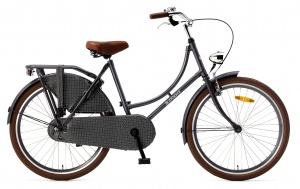 Popal Omafiets 24 Inch Girls Coaster Brake Grey