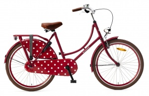 Popal Omafiets 24 Inch Girls Coaster Brake Red