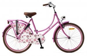 Popal Omafiets 24 Inch Girls Coaster Brake Pink
