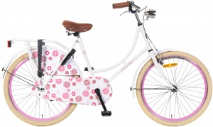 Popal Omafiets 24 Inch Girls Coaster Brake White