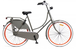 Popal Omafiets 28 Inch Woman Coaster Brake Grey/Orange
