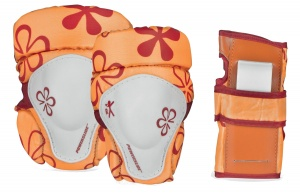 Powerslide Protection Set Junior XXS orange size 6 pcs