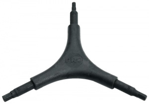 Pro allen key Y Hex3-in-1 2/2.5/3 mm steel black