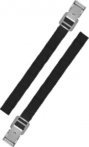 ProPlus straps 18 x 300 mm polyester black 2 pieces