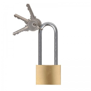 ProPlus padlock 40 mm with long bracket 75 mm gold