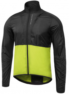 Protective windcheater P-Rise Up mens polyester black/lime