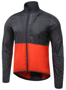 Protective windcheater P-Rise Up mens polyester black/red