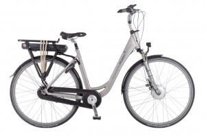 Puch E-Ambient 28 Inch Dames 7V Rollerbrake Zilver