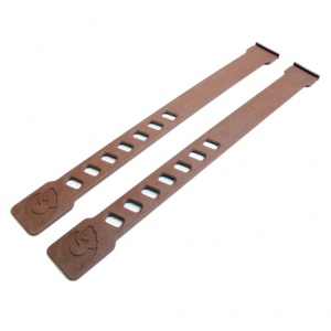 Qibbel foot straps QS875 28 cm brown 2 pieces