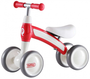 QPlay Cutey Ride On Junior Rood/Wit