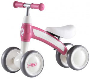QPlay Cutey Ride On Junior Roze/Wit
