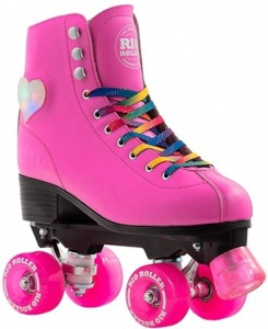 8a3f5b53b7a RIO Roller roller skating Figure Lights ladies pink