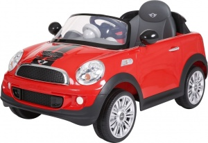 Rollplay Mini Cooper S Coupe RC accuvoertuig 6 Volt rood