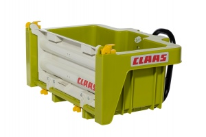 Rolly Toys trailer RollyBox Claas 43,5 cm green