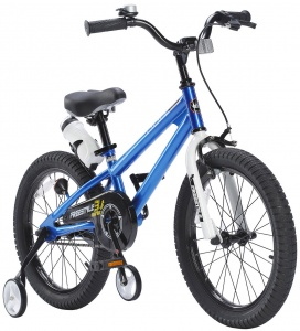 RoyalBaby Freestyle 18 Inch Jongens V-Brake Blauw