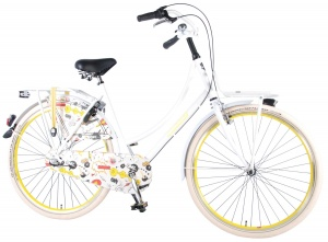 Salutoni Cartoon 28 Inch Women 3SP Coaster Brake White