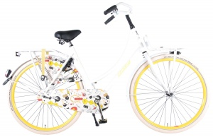 Salutoni Cartoon 28 Inch Women Coaster Brake White