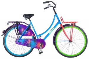 Salutoni Graffiti 28 Inch Woman Coaster Brake Multicolour